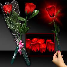 beauty and the beast light up rose led red rose light up novelties