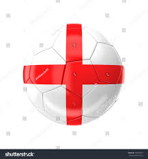 England Flag Colors 3d Soccer Ball England Flag Stock Illustration 182665985