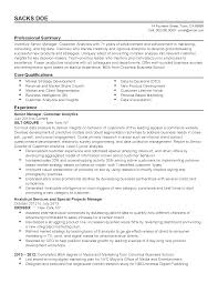 summary of qualifications on a resume professional customer analytics manager templates to showcase your resume templates customer analytics manager