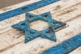 handmade distressed wooden israel flag vintage art distressed