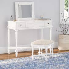 White Vanity Table With Drawers Bedroom U0026 Makeup Vanities Joss U0026 Main