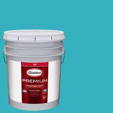 glidden diamond 5 gal pure white flat enamel interior paint and