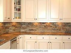 Kitchen Backsplash Ideas For Black Granite Countertops by Best 25 Stacked Stone Backsplash Ideas On Pinterest Stone