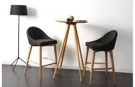 fauteuil cuisine design chaise haute design bois polyester gris anthracite shana salon