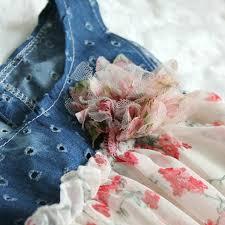 amazon com toddler baby girls dress denim chiffon flower dress