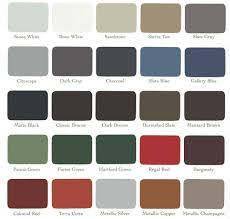 metal fabrication color chart construction services in maine