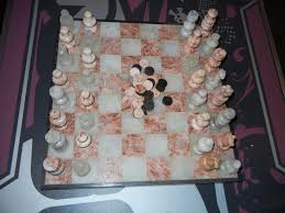 vintage chess 19088 rare carved marble decorative chess set