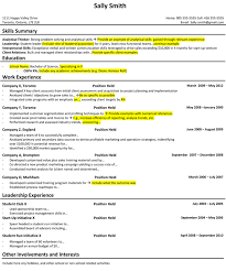 Resume Summary For College Student How I Prepared My Student Resume For A Career In