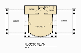 500 Square Foot House Floor Plans by Floor Plan Guard House Design Homes