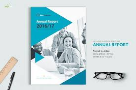 ind annual report template annual report 40 pages brochure templates creative market