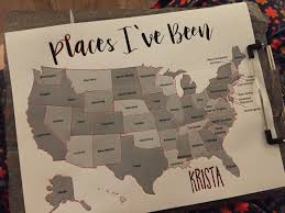 Scratch Off Map Usa by The Dabbling Crafter Diy Watercolor Scratch Off Map