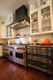 stainless steel backsplash kitchen stainless steel backsplash kitchen contemporary with le creuset