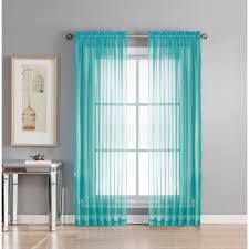 Turquoise Sheer Curtains Window Elements Sheer Sheer Turquoise Rod Pocket