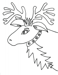 coloring pages reindeer sleigh caribou free print