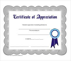 blank printable word appreciation business gift certificate word