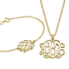 gold bracelet pendant images Mix and match monogram necklace and bracelet set mynamenecklace jpg