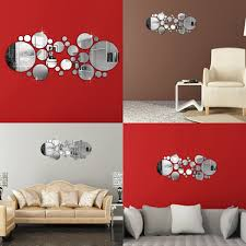diy 3d mirror acrylic wall sticker home removable mural decal art