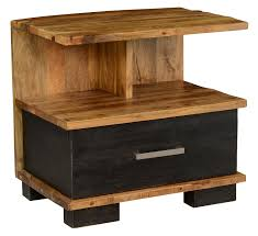 Natural Wood Nightstands Solid Wood Nightstand Solid Quarter Sawn White Oak Nightstand
