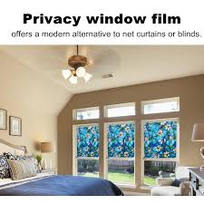 amazon com 3d non adhesive privacy stained window films for glass
