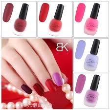 bk scrub nail polish matte mat noodles red black satin can not be