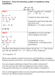 using the substitution method to solve systems of equations