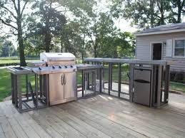strong and durable metal frame outdoor kitchen u2014 porch and