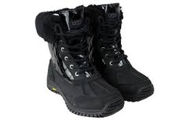 ugg s adirondack ii boots black s ugg adirondack ii quilted sneakerology