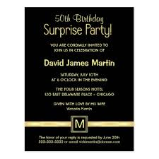 birthday invites chic invitations for 50th birthday party