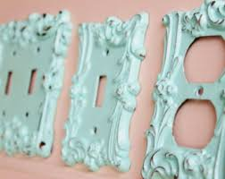 Shabby Chic Light Switch Covers by Distressed Metal Wall Decor Double Light Switch Cover White