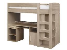 conforama bureau chambre lit mezzanine 90x200 cm montana chêne gris vente de lit enfant