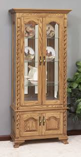 cherry curio cabinets cheap amish furniture oak cherry curio cabinets china and curio cabinets
