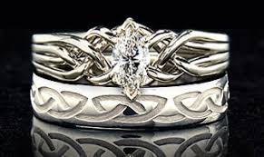 celtic wedding ring sets product detail celtic engagement ring wedding set diamond puzzle
