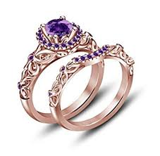 wedding ring tvs jewels purple amethyst bridal disney
