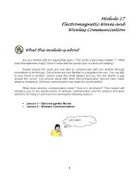 module 17 wireless communication radio electromagnetic radiation