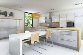 marveleous white kitchen design with reflections high gloss and