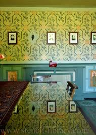 my arts and crafts style stencilled dining room design