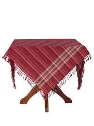 cinnamon plaid tablecloth attic sale linens kitchen attic