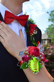 corsage for prom s softball corsage for senior prom sports roses