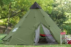 amazon com guide gear 18x18 u0027 teepee tent family tents sports