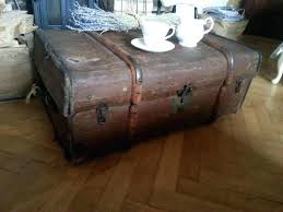 Vintage Trunk Coffee Table Large Steamer Trunk Coffee Table With Rustic Design Trunk Coffee