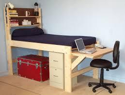 Computer Bed Desk by Diy Loft Platform Bed To Save Money Modern Loft Beds