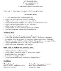 cna resume exles with experience cna resume summary exle certified nursing assistant resume free
