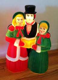Christmas Yard Decorations Carolers vintage empire christmas dickens carolers choir blow mold yard