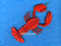 lobsters ornament christmas pinterest