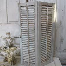 Shabby Chic Room Divider by Vintage Shabby Chic Wood Shutters Large Vintage Hand Painted Soft