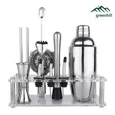 barware sets greenhill premium bar tool set 9 pieces barware cocktail shaker