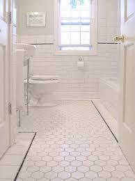 white hex tiles traditional bathroom