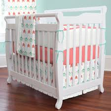Mattress For Mini Crib by Coral And Teal Arrow Mini Crib Bedding Carousel Designs