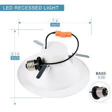 7 inch recessed light retrofit retrofit led recessed lighting luminwiz 5 6 inch dimmable led
