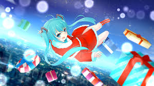 christmas presents wallpapers photos vocaloid hatsune miku christmas girls anime gifts